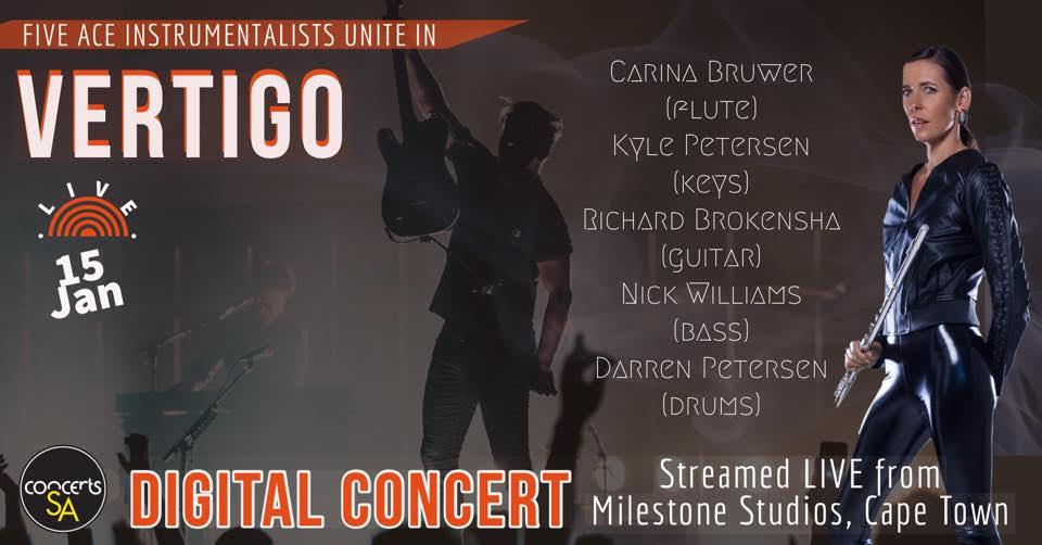 "Cape Town's top instrumental virtuosos come together in an instrumental showcase called ""Vertigo"""